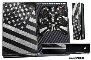 Skin for XBOX ONE 1 Console 2 Controller Graphics Sticker Wraps Decal SUBDUED