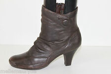 PROMOD Bottines Botts Cuir Marron Foncé T 38 TTBE