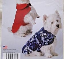 Simplicity Pattern W0190 Size XS-M Dog Coat 3 Sizes Its So Easy Uncut