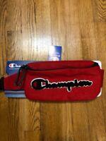 CHAMPION Large Logo Red Prime Shoulder Waist Fanny Pack Bag Supreme
