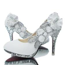 Wedding shoes bridal silver high-heels pumps bridesmaid flowers vogue sexy