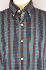 Ralph Lauren Men's Shirt Check Pattern Size Large Cotton Blaire L Cool Shirt