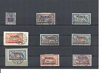 Memel, Litauen 1920-1921, Einzelwerte aus MiNrn: 1 - 39 o, geprüft Huylmans BPP