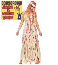 Disfraz De Novia cubierto de sangre ~ señoras Vestido de fantasía ~ elija su tamaño! Carrie Nuevo