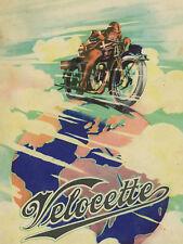 VELOCETTE Poster KTT KSS KTP GTP 1930 Suitable to  Frame