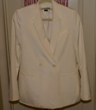 Theory Ladies Blazer Jacket IVORY Sz 8 100% SILK 2 POCKETS