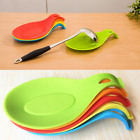 Useful Silicone Pad Spoon Mat Tool Holder Heat Resistant Dish Kitchen Gadgets