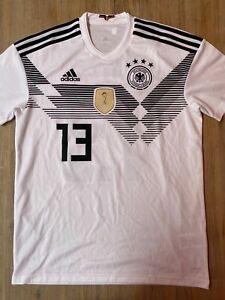 DFB Deutschland Heim Trikot adidas MÜLLER 13 Soccer Shirt Jersey WM EM 2018 in M