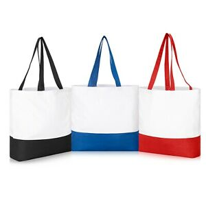 IMFAA Plain Large Strong 10oz Heavy Canvas  Reusable Grocery Shopping Bag LOT