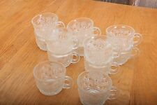 12 Vintage Glass Punch Glasses Stained Glass Pattern