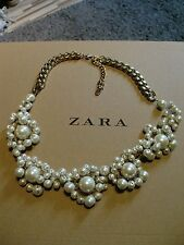 Zara Ethno mega statement Kette necklace boho top Blogger Bling Perlen