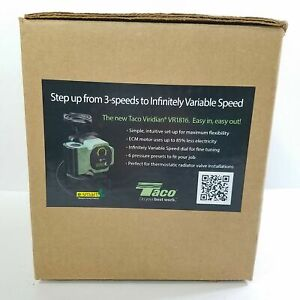 Taco Viridian VR1816-HY1-FC2A00 Variable Speed HE Circulator Pump New Open Box