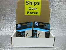 HP 56 Black & 57 Color Set Ink Genuine ** SHIPS OVERBOXED ** Date: 2017