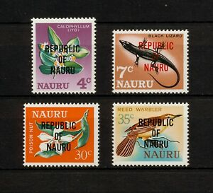 ✔️ (YYBD 038) Nauru 1968 MNH Birds Flowers Flora Fauna