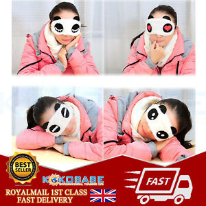 Panda Eye Mask Travel Sleeping Aid Sleep Love Blindfold Soft Elasticated Rest