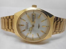 citizen automatic men's gold plated vintage japan made wrist watch run order-nh6