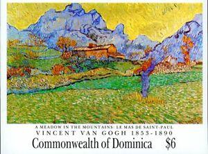 Dominica Stamp Sc#1346 - 1991 - S/Sheet - Vincent Van Gogh -$6