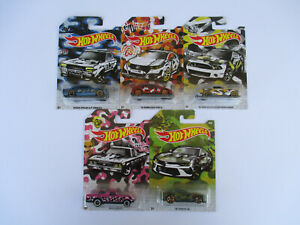 HOT WHEELS 20019-*CAMO SERIES* COMPLETE SET OF 5 CAMARO,NISSAN 1:64 SCALE  NEW!