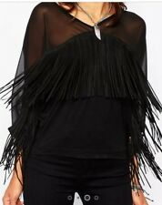 Religion black top size xs with tassels