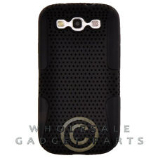 Samsung i9300 Galaxy S3 Hybrid Mesh Case Black Cover Shell Protector Guard Skin