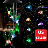Wind Chime Lights LED Solar Powered Color-Changing Outdoor Garden Decor Patio
