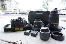 Nikon D7100 24.1MP DSLR Camera + 3 Lenses BUNDLE + EXTRAS!! 11999 SHUTTER COUNT