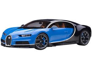 BUGATTI CHIRON FRENCH RACING BLUE & ATLANTIC BLUE 1/12 MODEL CAR AUTOART 12111