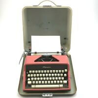 Vintage Olympia DeLuxe pink portable typewriter