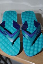 BATA Mens Blue And Green Flip Flops Uk Size 7