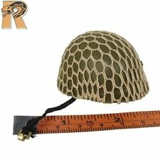 D Day Salute - Helmet w/ Net Cover - 1/6 Scale - GI JOE Action Figures