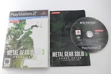 PLAY STATION 2 PS2 METAL GEAR SOLID 3 SNAKE EATER COMPLETO PAL ESPAÑA