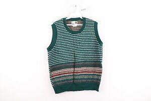 Vintage 70s Rockabilly Womens Size XL Fair Isle Print Acrylic Knit Sweater Vest