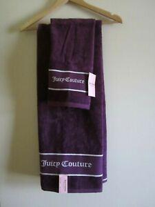 Juicy Couture Red Black Purple Grey Bath & Hand Towel or Bath Towel Bathroom NEW