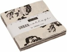 "Urban Cottage Moda Charm Pack 42 100% Cotton 5"" Precut Fabric Quilt Squares"