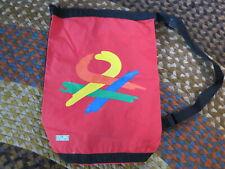 Vintage United Colors of De Benetton Red PVC Zip Top Shoulder Strap Duffle Bag