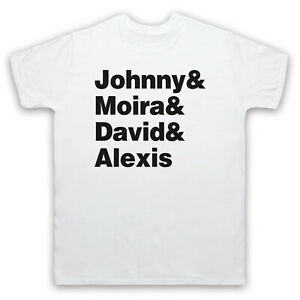 SCHITT'S CREEK ROSE FAMILY JOHNNY MOIRA DAVID ALEXIS MENS & WOMENS T-SHIRT