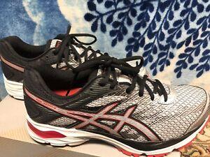 Asics Gel-Flux 4 Mens Size 7 Mesh Running Shoes. Silver/Vermilion