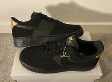 Nike Air force 1 Black Matte Gold UK 10 New