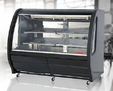 "New Black 56"" Curved Deli Bakery Display Case Refrigerated Or Dry Free Liftgate"