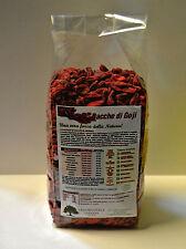 BACCHE DI GOJI BIOLOGICHE - bio provenienza certificata 500 grammi gr