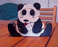 Vintage Puzzle Wood Handcut Panda Pre-1970
