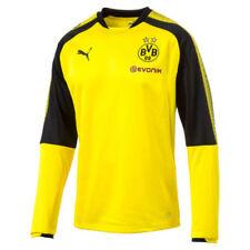 Maillots de football jaune longueur manches manches longues, taille L