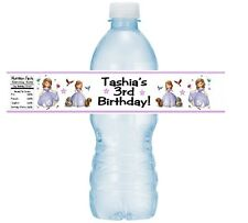 12 Sofia The First Birthday Party Or Baby Shower Water Bottle Stickers Labels