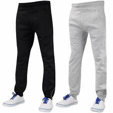 Mens Slim Fit Trouser Tracksuit Jogging Bottoms Casual Drop Crotch Joggers Pants