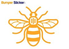 Manchester Bee Bumper Car ipad Sticker YELLOW - HIGH QUALITY VINYL DECAL