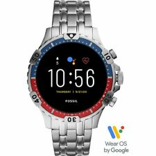 Mens Smartwatch FOSSIL GARRETT HR FTW4040 Stainless Steel Touchscreen GEN 5