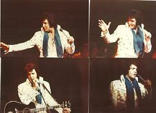 Elvis Presley 8 Photo Set- Blue Target/Starburst Jumpsuit (1973) & Free Cd!