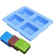 4-cavity Rectangle Tree Soap Mold Cake Mold Silicone Resin Mould Chocolate Mold