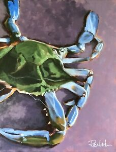 "Crab painting,14 x 18"". FREE DOMESTIC SHIPPING."