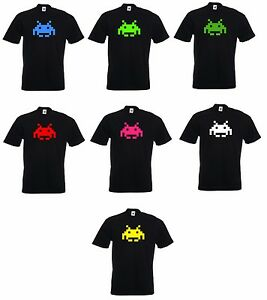 New Retro Classic Video Games Gaming Arcade SPACE INVADERS invader T-SHIRT INV1
